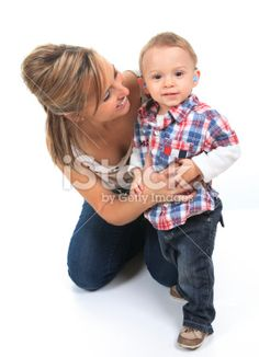Mother with Children - Hearing Aids Royalty Free Stock Photo