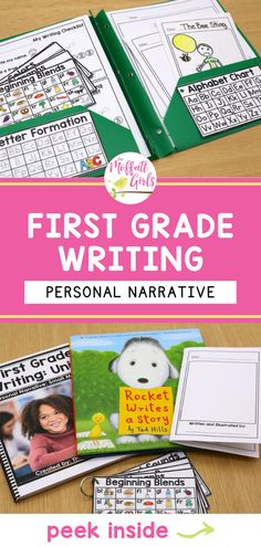 I am incredibly excited to share with you my brand new First Grade Writing Curriculum! EVERYTHING you need to teach writing is covered in this curriculum. Each unit has 22 days of scripted lesson plans. All of the hard work has been done for you! Writing Curriculum, Teaching Writing, Teaching Tips, Personal Narrative Writing, Personal Narratives, Core Learning, 22 Days, First Grade Writing, Grade 1