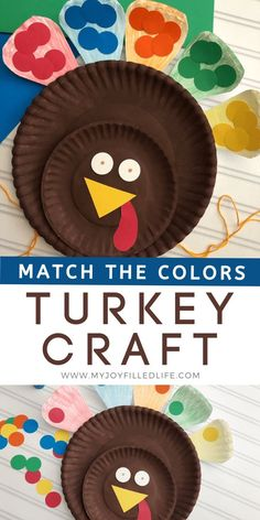 Your kids will have fun learning colors with this Thanksgiving turkey craft. My Joy-Filled Life readers are enjoying this fun Thanksgiving activity with their kids. Be sure to follow me for more fun kid activities. #Thanksgivingcraft #colormatching #turkeycraft Thanksgiving Food Crafts, Thanksgiving Activities For Kids, Fun Activities For Kids, Thanksgiving Turkey, Thanksgiving Decorations, Stem Activities, Holiday Crafts, Easy Fall Crafts, Crafts For Kids To Make