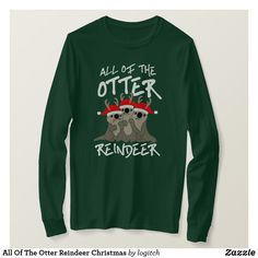 All Of The Otter Reindeer Christmas Sweater - #otters #riverotters #otterlovers #christmassweaters #pullovers #aff