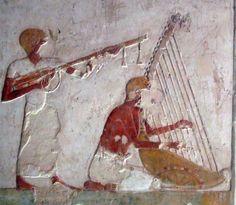 Tomb of Benia (TT343), 18th dynasty: musicians © OSIRISNET.NET
