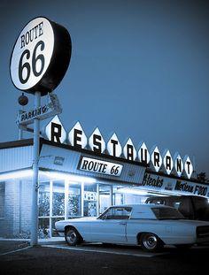 50's Route 66 Restaurant Sign