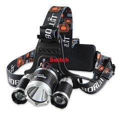 Boruit Rechargeable LED Headlamp with Cree T6 5000 Lumens RJ3000 Head Lamp Silver Head >>> Want to know more, click on the image.Note:It is affiliate link to Amazon.