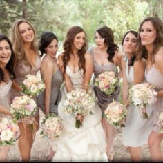 like the color scheme for the bridemaids