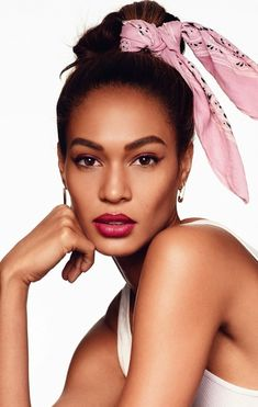 6 Ways To Wear A Bandana With Joan Smalls via @WhoWhatWear