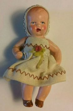 Antique Armand Marseille 370 Doll A M German Bisque Baby Doll Project Dolls Dolls, Baby Dolls, German Fashion, White Apron, Vintage Paper Dolls, Creepy Dolls, Bisque Doll, Santa Gifts, Hello Dolly