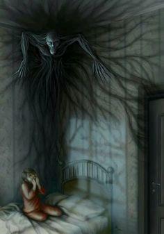 Dark Creature in the Night Mehr scary creepy Dark Creatures, Mythical Creatures, Dark Fantasy Art, Arte Obscura, Night Terror, Dreams And Nightmares, Demonology, Arte Horror, Creepy Art