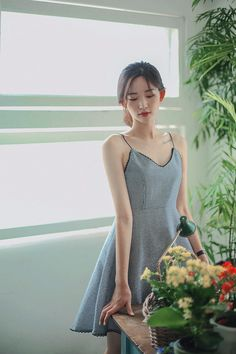 Modern Fashion Outfits, Casual Outfits, Slender Girl, Asian Model Girl, Runway Fashion, Womens Fashion, Check Dress, Asia Girl, Beautiful Asian Girls