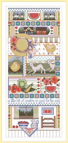 """A Little Bit of Country"" counted cross stitch"
