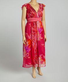 Loving this Fuchsia Floral Maxi Dress - Plus on #zulily! #zulilyfinds