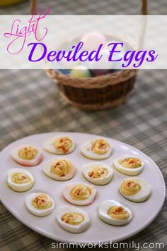 Light Deviled Eggs - a Nutrisystem Extra (or PowerFuel depending on how many you eat!)
