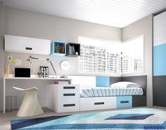H202 #Habitacionesjuveniles #Rimobel , sencillas, funcionales, modernas capaces de enamorar a primera vista.