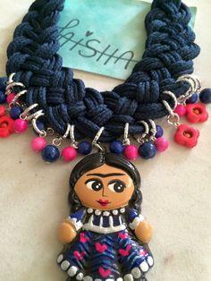 Collar trenzado  Visítame en Facebook Bisuteria Laisha