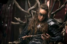 This hairstyle is pretty warrior. The Grounder's Commander from the newish TV show on CW The 100.