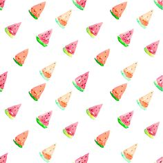 Seamless Watermelon Vector Pattern by Okpik on Creative Market