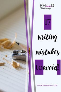 Common writing mistakes to avoid and tips, videos and examples of how to fix them. #commonwritingmistakes #writingmistakes #writingmistakestoavoid Creating A Portfolio, Creating A Blog, Run On Sentences, Nouns And Verbs, Professional Writing, Business Writing, Social Media Ad, Blog Topics, Find A Job