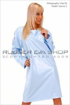 Short Plastic Nightie - Nightwear - Rubber Eva Shop