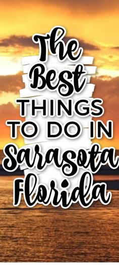 Things To Do In Sarasota Florida - Planning a Sarasota vacation? It's been our hometown for five years now and these Sarasota attractions are some of our favorites! Clearwater Florida, Sarasota Florida, Old Florida, Florida Travel, Florida Beaches, Disney Vacations, Disney Trips, Disney Travel, Travel With Kids