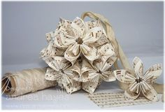 kusudama ball - i don't know why i didn't think of these for christmas ornaments