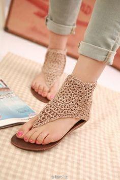 #crochet sandles