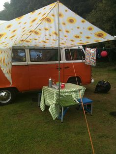 cute idea for a vw camper van awning