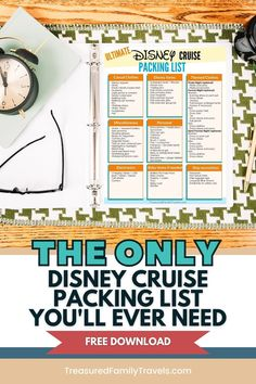 Grab your free Disney Cruise packing list now. Know what to bring for formal night, pirate night and every day in between. If you are wondering what to wear on your Disney Cruise, this is for you. Just enter your email address and it will be sent to you immediately. #DisneyCruise #CruisePackingList #familytravel Packing List For Disney, Ultimate Packing List, Disney Cruise Tips, Packing For A Cruise, Disney World Vacation, Packing Lists, Disney Vacations, Florida Travel Guide, Disney Secrets