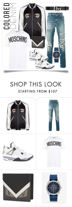 """""""freestyle"""" by justaguyfromfrance ❤ liked on Polyvore featuring Sandro, Yves Saint Laurent, Jordan Brand, Moschino, Fendi, Express, Gucci, men's fashion and menswear"""