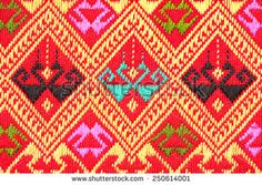 Colorful thai handcraft peruvian cutton style rug surface close up. More of this motif & more textiles peruvian stripe beautiful background tapestry persian detail pattern arabic fashionable textile.