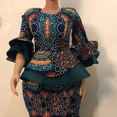 african fashion The Lastest Ankara Styles 2020 African Print Dress Designs, African Print Dresses, African Print Fashion, Ankara Designs, Latest African Fashion Dresses, African Dresses For Women, African Attire, Ankara Rock, Ankara Skirt