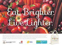 Eat Brighter Live Lighter campaign