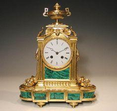 A very attractive and fine Ormolu and Malachite mantel clock, French circa 1840