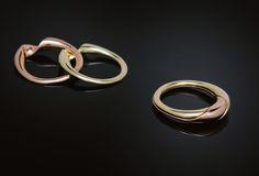 Swirl Gimmel Ring — Baker & Black - Fine Jewelry