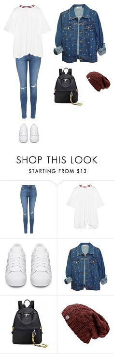 """Untitled #437"" by ericanunes on Polyvore featuring Topshop, Facetasm and adidas Originals"