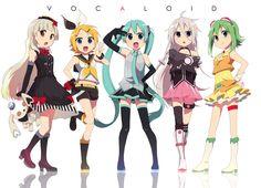 Vocaloid: Mayu, Kagamine Rin, Hatsune Miku, IA, Megpoid GUMI