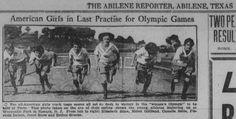 Newark, entraînement des athlètes féminines américaines avant leur départ pour Paris, fin juillet 1922
