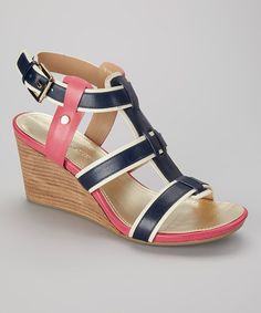 Take a look at this Marine & Fuchsia Icon Sandal by Tommy Hilfiger on #zulily today!