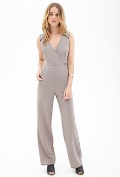 Wide-Leg Surplice Jumpsuit | FOREVER21 - 2000059656