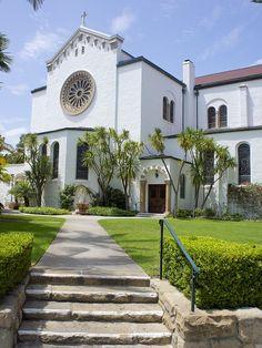 Our Lady of Sorrows Jesuit Church, Santa Barbara, California by Lubos Rojka