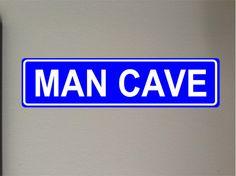 Man Cave Blue Aluminum Street sign outdoor by GraniteCityGraphics Aluminum Signs, Aluminum Metal, Custom Street Signs, Outdoor Signs, Man Cave, Lettering, Blue, Etsy, Calligraphy