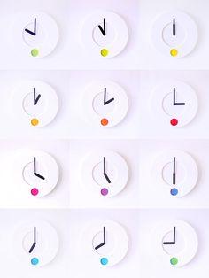 duncan shotton's colour o'clock changes hues as time passes