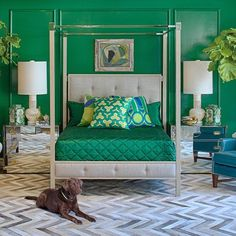 Grace Home Collection - Contemporary - Living Room - los angeles - by Grace Home Furnishings. Love the grasscloth wall covering Bedroom Green, Green Rooms, Bedroom Wall, Bedroom Decor, Bedroom Ideas, Green Walls, Master Bedroom, Home Furnishing Stores, Home Furnishings