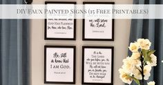 DIY Faux Painted Signs (Free Scripture Printables)