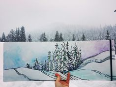 Painting in the Cascades by Nikki Frumkin