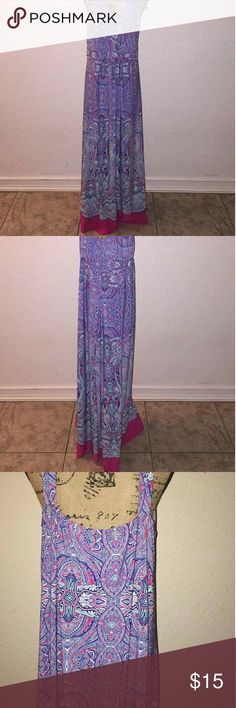 Full length dress Beautiful Multicolor Paisley Dress. I wore this with a short sleeve polyester spandex shirt. new directions Dresses
