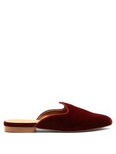 Click here to buy Le Monde Beryl Venetian backless velvet slipper shoes at MATCHESFASHION.COM