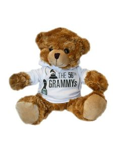 Snuggle up with this fury Grammy friend when you get this 56th Grammys Mic Hoodie Bear!