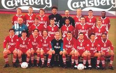 Liverpool squad photos over the years. Liverpool Fc Team, Liverpool Legends, Liverpool European Cups, Jamie Redknapp, John Barnes, Squad Pictures, Mark Wright, This Is Anfield, Michael Thomas