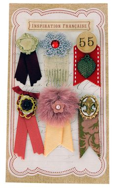 EK Success - Jolee's Boutique - French General Collection - Metal Ribbons at Scrapbook.com $6.59