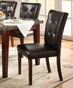 Another great find on #zulily! Dark Espresso Casual Dining Chair - Set of Two #zulilyfinds