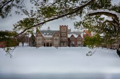 Home away from home- HWS! The Quad under a blanket of freshly fallen snow Hobart And William Smith, Celebrities Exposed, Smith College, Seneca Lake, Winter Is Coming, Home And Away, Quad, Mansions, Colleges